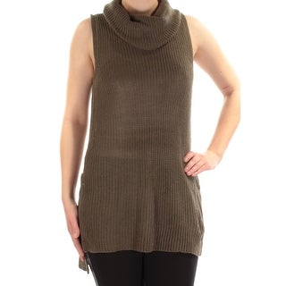 Womens Green Sleeveless Cowl Neck Sweater Size M