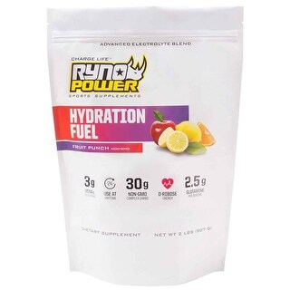 Ryno Power Hydration Fuel Powder - 2Lbs - Fruit Punch - HYD487