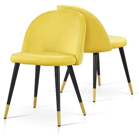 Ivinta Modern Velvet Dining Chairs Set of 2, Upholstered Accent Chair