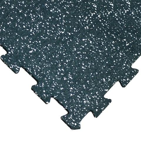 "Goodyear ""ReUz"" Rubber Tiles -- 6mm x 20"" x 20"" - White Speckle - 16 Tiles (4 x 4 Packs) - 20x20"