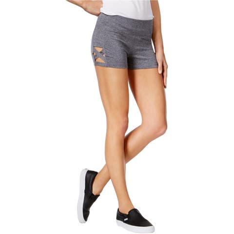 Material Girl Womens Cutout Athletic Workout Shorts