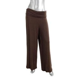 Studio M Womens Jersey Stretch Wide Leg Pants - XL