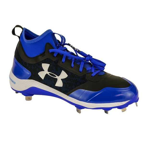 5b34da9e95f Shop Under Armour Men s Heater Mid ST Baseball Cleats - black team royal -  10.5 - Free Shipping On Orders Over  45 - Overstock - 23500479