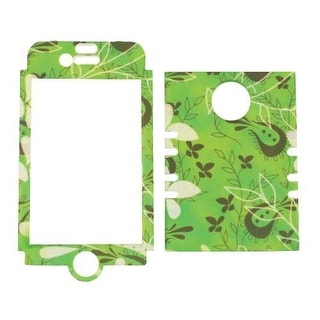 Unlimited Cellular Rocker Snap-On Case for Apple iPhone 4/4S (Leaves of Green)