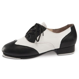 Danshuz Womens Black White Saddle Style Tap Dance Shoes Size 3-11