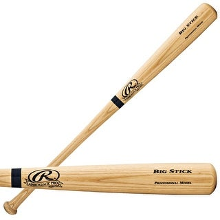 Rawlings Big Stick Bat Natural Finish Blue Ring