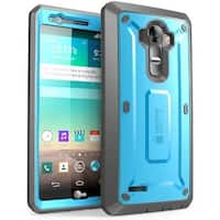 Supcase, LG G4 Case, Unicorn Beetle Pro, Built in Screen Protector for LG G4 2015- Blue/Black