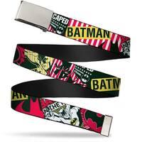 Blank Chrome  Buckle Batman Caped Crusader Webbing Web Belt