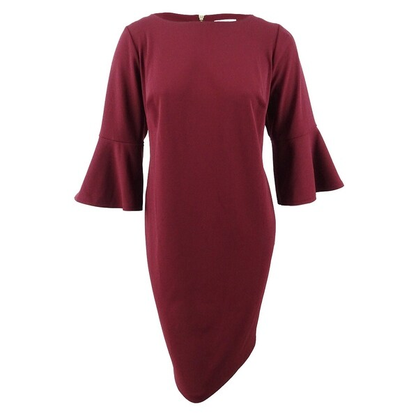 38333990828ce5 Shop Calvin Klein Women's Plus Size Bell-Sleeve Sheath Dress (22W,  Rosewood) - Rosewood - 22W - On Sale - Free Shipping Today - Overstock -  27553698
