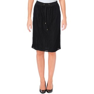 Calvin Klein Womens Straight Skirt Lace Pull On (2 options available)