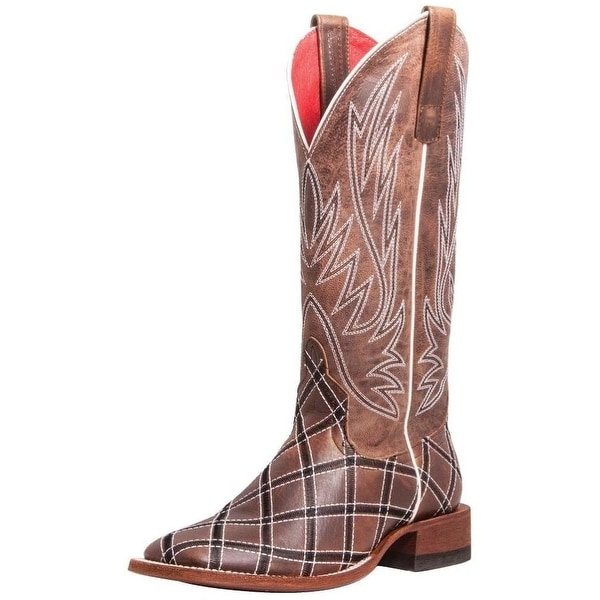 Macie Bean Western Boots Womens Patchwork Moka Sabotage Bone