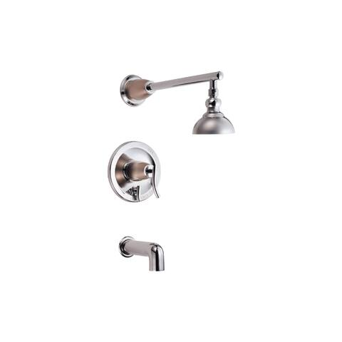 Danze D504054T Sonora Pressure Balanced Tub and Shower Trim Package - Chrome / Satin Nickel