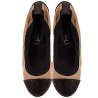 Bailarinas GOLIA MAR Camel/Brown Snake Toe Ballerina Flat