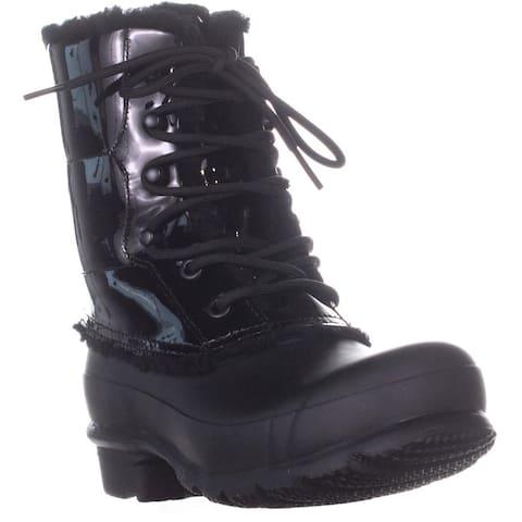 Hunter WFS1090CHP Lace Up Winter Boots, Black - 6 US / 36 EU