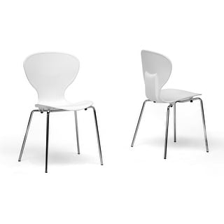 Boujan White Plastic Modern Dining Chair  - 2 Chairs