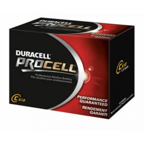 Duracell PC1400 Procell Alkaline C Battery, 1.5 Volt, 12-Pack