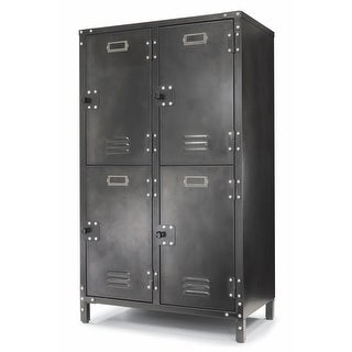 Allspace 4 Door Steel Storage Locker with Dark Weathered Finish - 240003