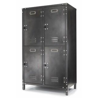 Allspace 4 Door Locker w/ Dark Weathered Finish SCRATCH & DENT DEAL - 240122