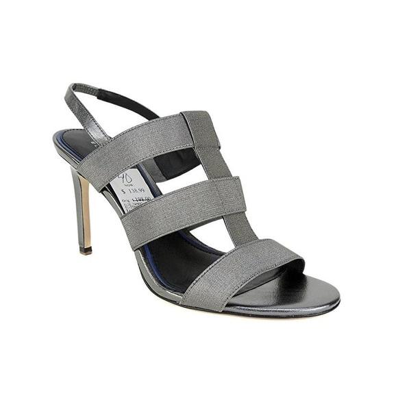 Elie Tahari Ithaca Pewter Caged Sandals