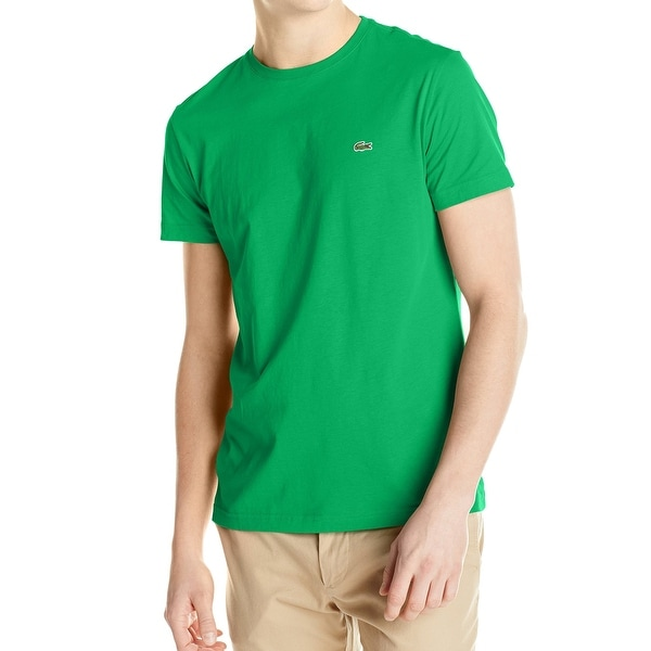 766bf4651 Shop Lacoste NEW Chlorophyll Green Mens Size 2XL Solid Crewneck Tee ...