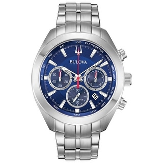 Link to Bulova Men's 96B285 Classic Chrono Blue Dial Stainless Bracelet Watch - Silvertone Similar Items in Men's Watches