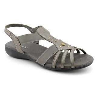 David Tate Venus Women Open-Toe Leather Slingback Sandal