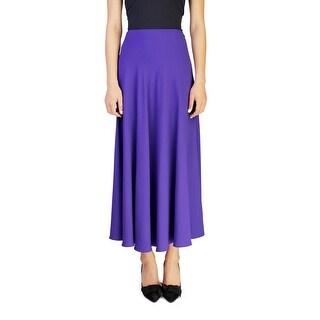 Prada Women's Acetate Viscose Blend Long Skirt Purple