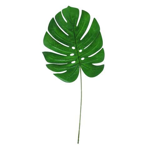 "Set of 10 Monstera Split Leaf Philodendron Stem Greenery Spray 24in - 24"" L x 10"" W x 0.25"" DP"