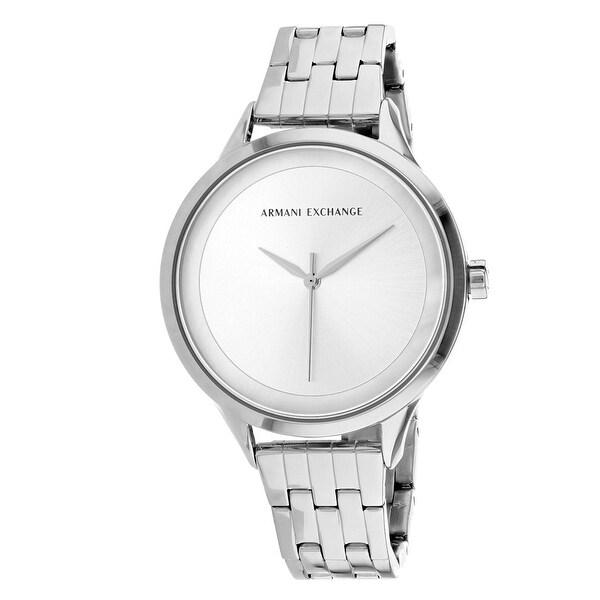 753b7ddd Armani Exchange Women's Classic AX5600 Silver Dial watch