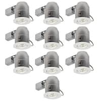 """Globe Electric 9100901 1-Light 6"""" Recessed Lighting Trim and Housing Package IC Rated - Pack of 10"""