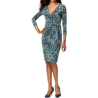 Anne Klein Womens Wear to Work Dress Matte Jersey Printed