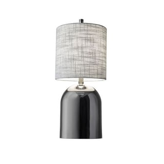 """Adesso 1506 Divine 1 Light 23"""" Tall Buffet Table Lamp with Textured Fabric Shade"""