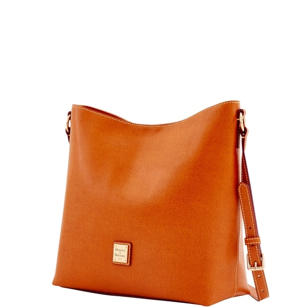 Dooney U0026 Bourke Saffiano Hobo Crossbody (Introduced By Dooney U0026 Bourke At  $228 In Feb 2017)   Natural   Free Shipping Today   Overstock.com   20809279