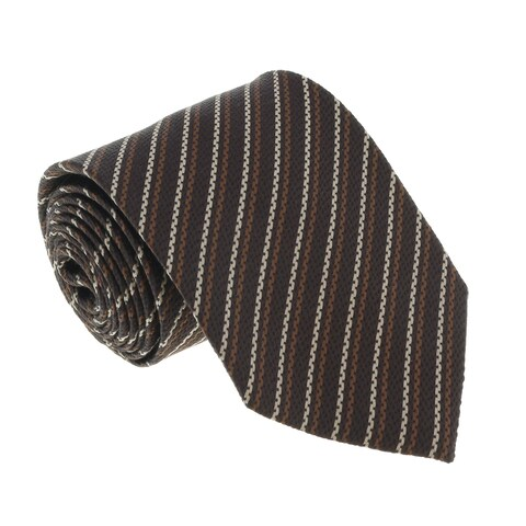 Missoni U4544 Brown/Tan Pencil 100% Silk Tie - 60-3