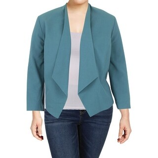 Nine West Womens Plus Open-Front Blazer Business Attire Suit Separate
