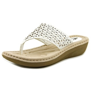 White Mountain Caviar Women Open Toe Synthetic White Thong Sandal