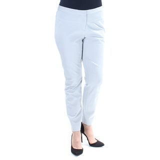 Womens Silver Wear To Work Skinny Pants Size 12