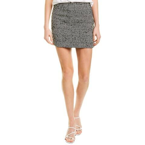 Fifteen Twenty Chevron Wool-Blend Mini Skirt