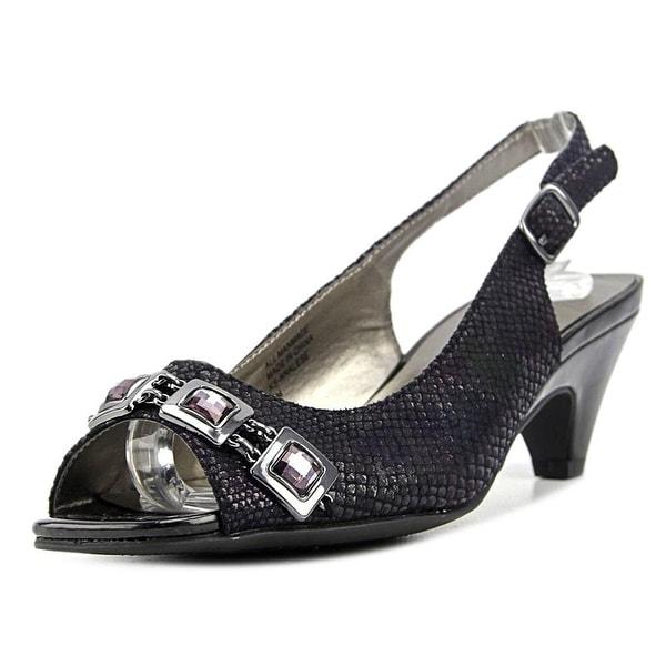 Karen Scott Analese Women Open-Toe Synthetic Black Slingback Heel