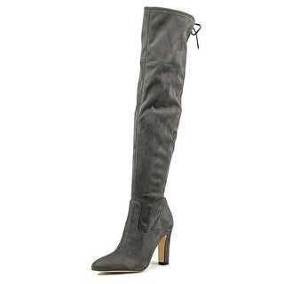 Ivanka Trump Smith Round Toe Canvas Over the Knee Boot