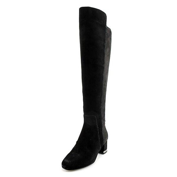 MICHAEL Michael Kors Womens Sabrina OTK Leather Closed Toe Over Knee Fashion ...