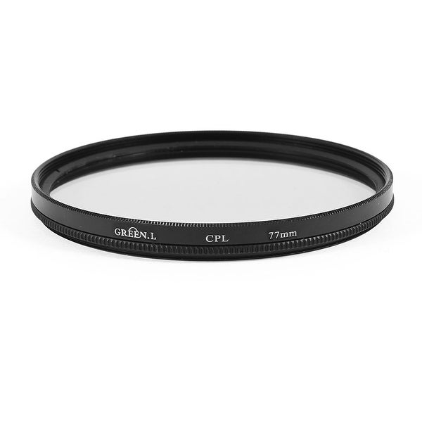 Unique Bargains Round Black Clear Circular Polarizer CPL Filter 77mm for  DSLR Camera Lens