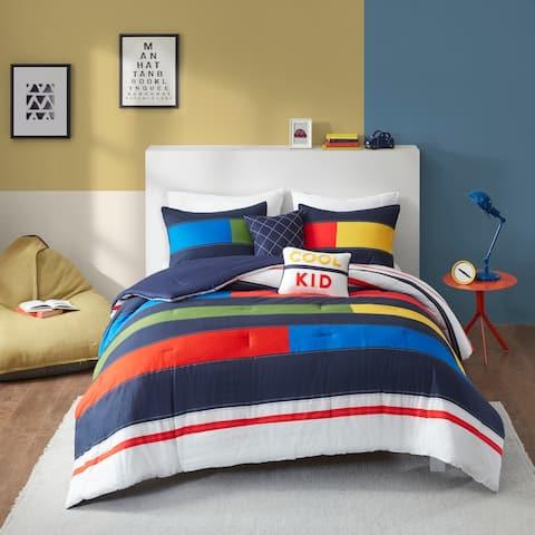 Emmett Stripe Printed Comforter Set by Urban Habitat Kids