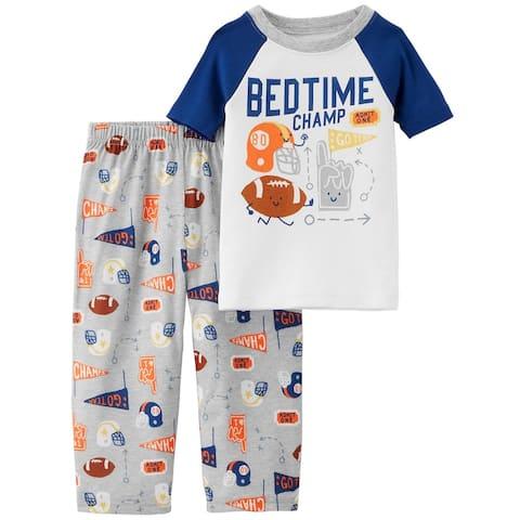 Carter's Boy's 2-Piece Sports Cotton & Poly PJs - Bedtime Champ