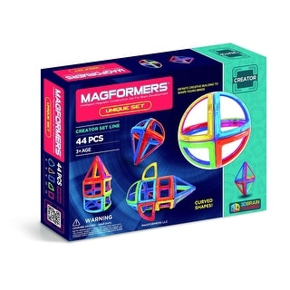 Magformers Unique 44 Piece Set - Multi
