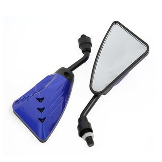 2Pcs Blue Screw Mount Racing Blind Spot Rearview Rear View Mirror for Motorcycle