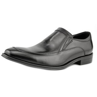 Kenneth Cole NY Put This On Men  Apron Toe Leather Black Loafer