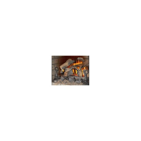 Napoleon GVFL30 40,000 BTU 30 Inch Wide Fiberglow Vent Free Gas Log Kit with Cast Iron Grate and Decorative Andirons - N/A
