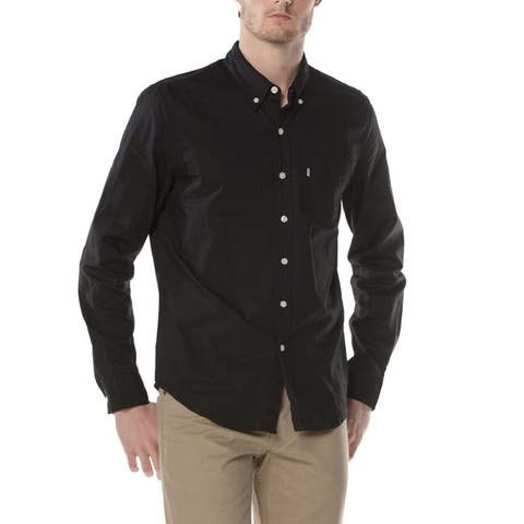 Levis Classic Long Sleeve Shirt Button Up Lightweight Cotton Slim Fit 19586