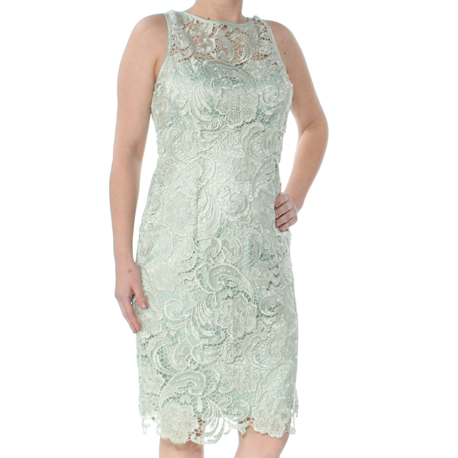 Adrianna Papell Women/'s Lace Halter Sheath Short Dress Choose SZ//Color
